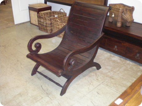 All Wood Plantation Chair - 305 Design Center - Teak, Indonesian, Patio And Outdoor Furniture Miami
