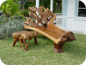 Fan Back Tree Trunk Chaise