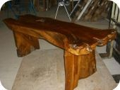 Dunia Rustic Console Table