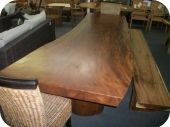 Solid 10ft Free Form Dining Table w/ Finish