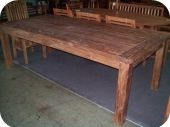 Reclaimed & Recycled Rustic Teak Dining Table