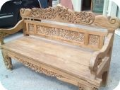 Carved Teak Balinese Bench
