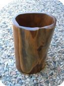 Abstract Teak Bowl/Vase