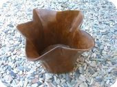 Abstract Flower Teak Bowl