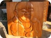3 piece buddha carving