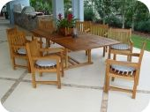 Expandable Teak Rectangular Outdoor Dining Table