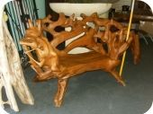 Root Wood Bench