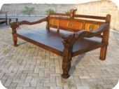 Antique Dragon Arm Daybed 5