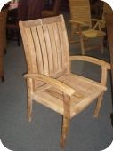Arched Slatted Armchair