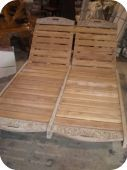 Carved Teak Sun Chaise