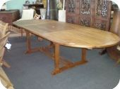 8ft - 10ft Teak Oval Expandable Table