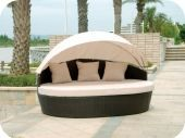 Bimini Synthetic Wicker Sunbed