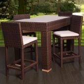 Synthetic Wicker Bartable w/ Barstools