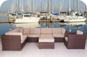 Marseille Synthetic Wicker 8PCS Fiji Sectional Set