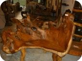 Large Root Wood Benches