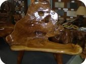 Large Tree Trunk Chair