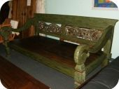 Antique Green Bali Daybed